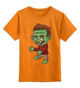 """Детская футболка классическая унисекс """"Франкенштейн"""" - хэллоуин, зомби, ужас, франкенштейн, мертвец"""