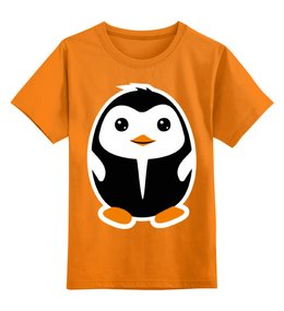 """Детская футболка классическая унисекс """"Пингвинёнок"""" - прикольно, смешные, смешное, футболка, животные, популярные, прикольные, дети, детская, природа"""