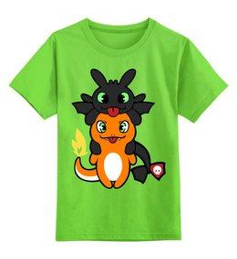 """Детская футболка классическая унисекс """"Беззубик и покемон"""" - покемоны, как приручить дракона, беззубик, pokemon"""