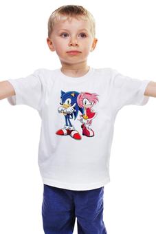 """Детская футболка классическая унисекс """"Sonic Amy"""" - соник, еж соник, sonic, hedgehog, amy"""