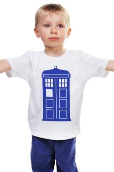 """Детская футболка """"Tardis (Тардис)"""" - сериал, doctor who, tardis, доктор кто, машина времени, телефонная будка, time machine, police box, phone box, полицейская будка"""