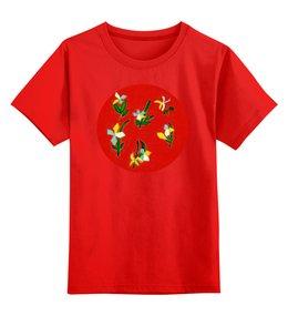 """Детская футболка классическая унисекс """"Весна, весна"""" - цветы, весна, листья, радость"""