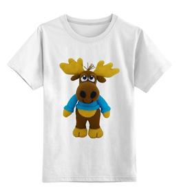 """Детская футболка классическая унисекс """"Лось"""" - смешные, приколы, футболка, прикольные"""