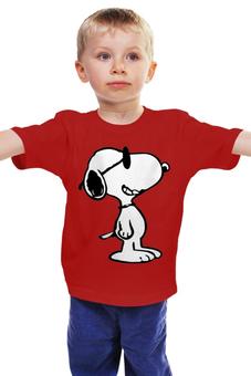 """Детская футболка классическая унисекс """"Снупи"""" - комиксы, пес, мульт, снупи"""