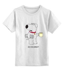 """Детская футболка классическая унисекс """"Брайан Гриффин"""" - кофе, минимализм, гриффины, брайан гриффин, brian griffin"""