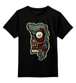 """Детская футболка классическая унисекс """"Зомбяк"""" - зомби, глаза, череп"""