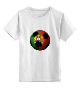 """Детская футболка классическая унисекс """"Футбол Португалия"""" - футбол, мяч, футбольный мяч, португалия"""