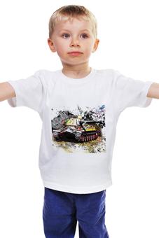 """Детская футболка классическая унисекс """"World of Tanks"""" - world of tanks, танки, игры компьютерные, игра онлайн, гусеницы танка"""