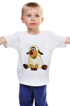 """Детская футболка классическая унисекс """"Good Luck"""" - смешные, новый год, овца, sheep, 2015, овечка"""