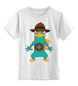 """Детская футболка классическая унисекс """"Модный утканос"""" - смешные"""