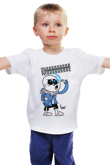 "Детская футболка классическая унисекс ""Санс из Undertale "" - undertale, санс, papyrus wowie"