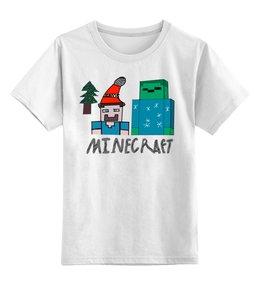 """Детская футболка классическая унисекс """"Новый год в Minecraft"""" - новый год, minecraft, майнкрафт, крипер, новый год 2019"""