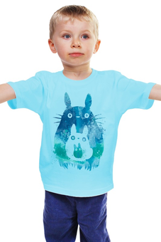"""Детская футболка классическая унисекс """"Тоторо"""" - мульт, тоторо"""