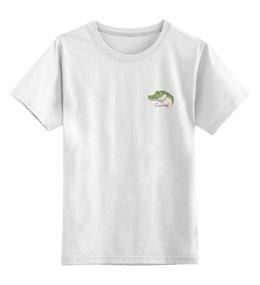 """Детская футболка классическая унисекс """"Giovanni"""" - юмор, пародия, рисунок, крокодил, giovanni"""