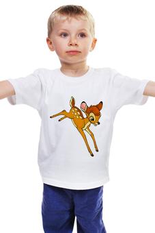 """Детская футболка классическая унисекс """"Бэмби"""" - оленёнок, олень, bambi, бэмби"""
