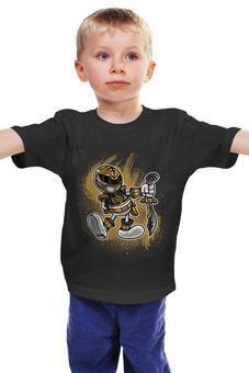 """Детская футболка """"Белый Рейнджер"""" - самурай, могучие рейнджеры, токусацу, белый рейнджер"""