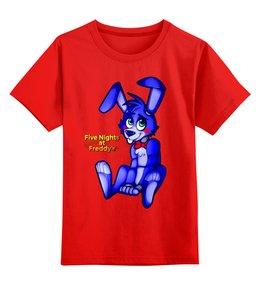 """Детская футболка классическая унисекс """"Five Nights at Freddy's (Bonnie)"""" - мультфильмы, игрушки, куклы, пять ночей у фредди, бонни"""