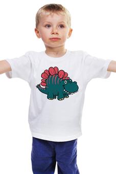 """Детская футболка """"Бронтозаврик"""" - мультфильм, рисунок, детский, динозавры, стильный"""