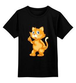 """Детская футболка классическая унисекс """"Рыжий кот"""" - кот, кошка, животные, котёнок"""
