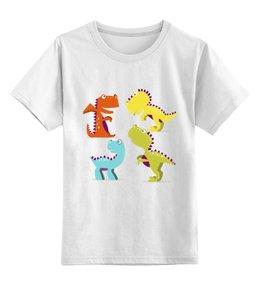 """Детская футболка классическая унисекс """"Динозавры"""" - динозавр, животное, динозаврики"""