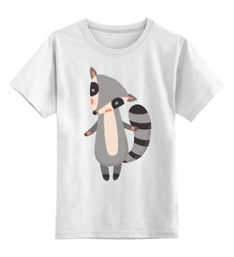 """Детская футболка классическая унисекс """"Милый енот"""" - животные, енот"""