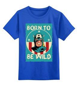 """Детская футболка классическая унисекс """"Капитан Америка"""" - капитан америка, captain america"""