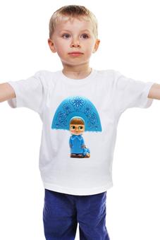 """Детская футболка классическая унисекс """"кукла-ДЕВОЧКА МАША ИЗ МУЛЬТА. СМЕШНАЯ ОЗОРНАЯ"""" - кукла, мульт, маша"""