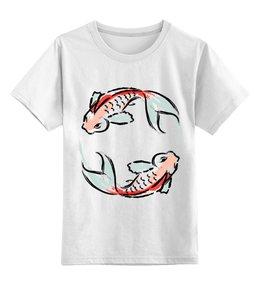 """Детская футболка классическая унисекс """"Знак Зодиака Рыбы"""" - животные, рыба, знак зодиака, рсиунок, арт"""