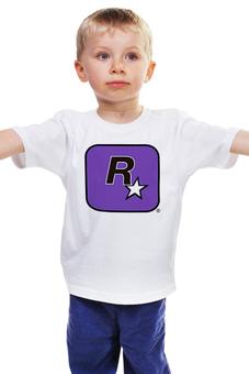 """Детская футболка классическая унисекс """"Rockstar Games"""" - grand theft auto, gta, rockstar, рокстар, rockstar games"""