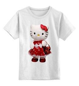 "Детская футболка классическая унисекс ""КОШКА КИТИ.ИГРУШКА. МУЛЬТ. KITTY."" - кошка, kitty, мульт, игрушка, кити"