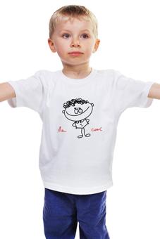 """Детская футболка классическая унисекс """"мальчик"""" - авторские майки, надпись, мальчик, ребенок"""