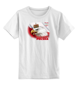 "Детская футболка классическая унисекс ""Polska"" - polska, olympic games, sochi 2014, national team, mały kibic"