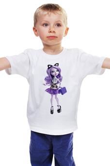 """Детская футболка """"САМАЯ ПОПУЛЯРНАЯ И ЛЮБИМАЯ  КУКЛА- БАРБИ ."""" - кукла, мульт, любимая, игрушка, барби"""