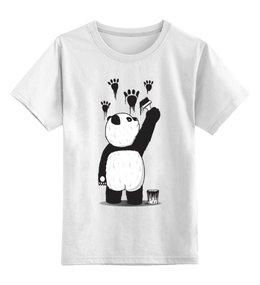 """Детская футболка классическая унисекс """"Панда вандал"""" - wwf, животные, панда, panda"""