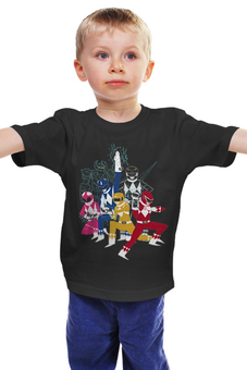 "Детская футболка ""Могучие Рейнджеры"" - самураи, могучие рейнджеры, токусацу"