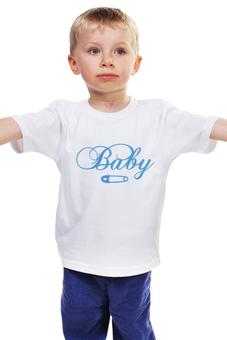 "Детская футболка ""Good Luck"" - удача, baby, pins and niddles, от сглаза"