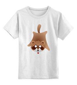 """Детская футболка классическая унисекс """"Забавный енот"""" - животное, енот"""