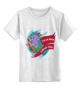 """Детская футболка классическая унисекс """"1 мая"""" - праздник, цветы, 1 мая, весна, день труда"""