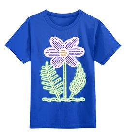"""Детская футболка классическая унисекс """"Природа дом, трава фундамент в нём"""" - цветы, россия, природа, растения, слова"""
