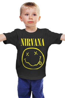 """Детская футболка """"Нирвана """" - grunge, гранж, nirvana, kurt cobain, альтернативный рок"""