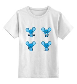 """Детская футболка классическая унисекс """"Mouse Dan """" - smile, like, мультяшный, мышонок"""