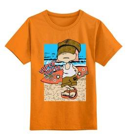 """Детская футболка классическая унисекс """"Super surfing """" - сёрфингист, море"""