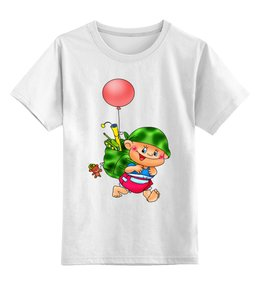 """Детская футболка классическая унисекс """"малыш с игрушками."""" - мальчик, игрушки, малышка, маленький солдат"""
