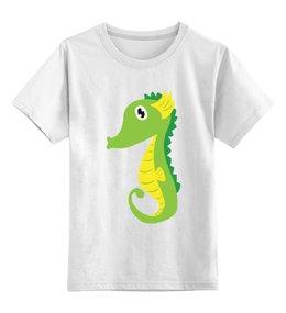 """Детская футболка классическая унисекс """"Морской Конёк"""" - море, животные, морской конёк"""
