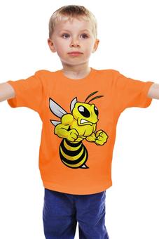 """Детская футболка """"Злая оса"""" - насекомые, пчела, оса"""