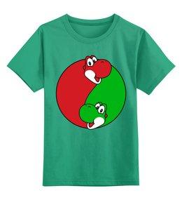 """Детская футболка классическая унисекс """"Йоши(Марио)"""" - mario, марио, yoshi, динозаврик"""