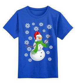 """Детская футболка классическая унисекс """"Снеговик"""" - снеговик, снежинки, зима"""