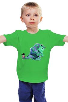 """Детская футболка классическая унисекс """"Корпорация монстров"""" - монстр, девочка, корпорация"""