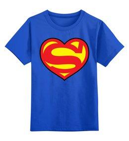 """Детская футболка классическая унисекс """"Я люблю Супермена"""" - супермен, комиксы, superman, супергерои"""