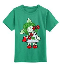 """Детская футболка классическая унисекс """"Девочка-тролль с сердечком"""" - день святого валентина, подарок, дар, день влюбленных, тролли"""
